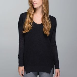 Lululemon The Sweater Life in Heathered Black
